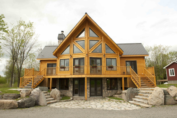 Plain Log Homes On Architecture With Idea